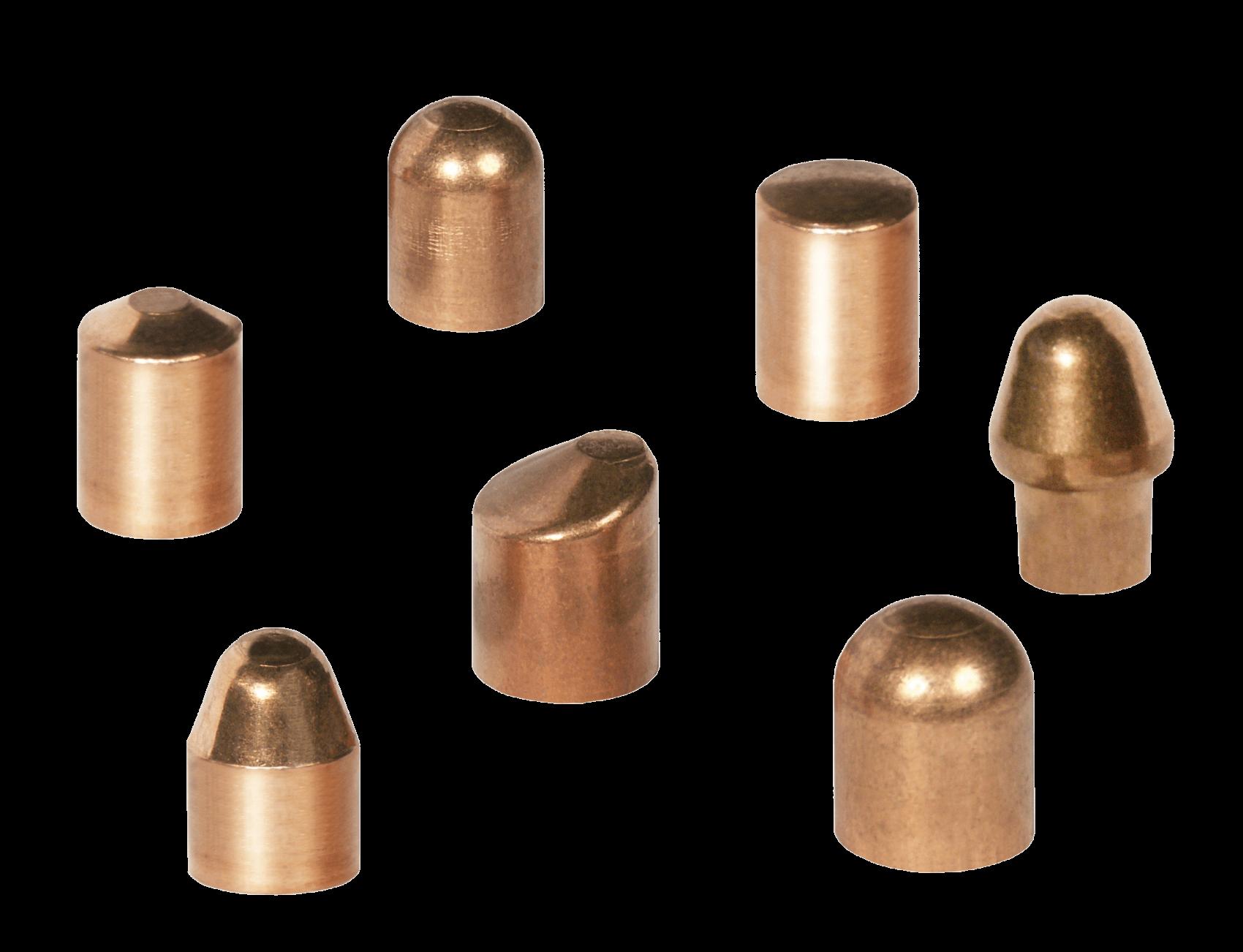 Spot welding electrode caps