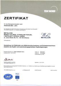 Certyfikat ISO GR