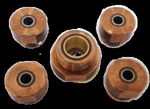 Elektrody z izolacją do zgrzewania nakrętek, Isulation electrode for nut welding